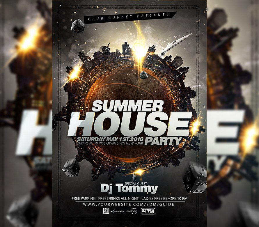 House Party Flyer Template New Summer House Party Flyer Template I for Your Awesome Parties