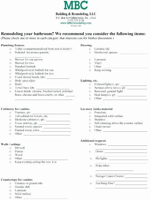 House Renovation Checklist Template Beautiful Building A House Checklist Excel Home Renovation List