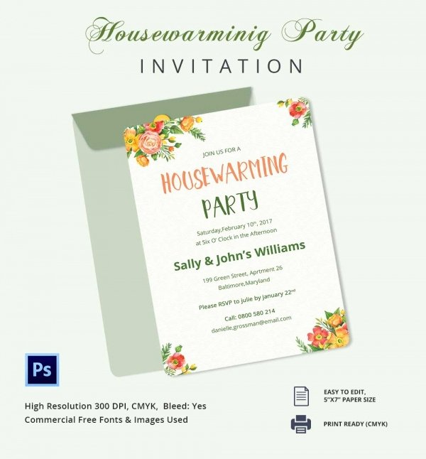 Housewarming Invitation Template Free Beautiful Housewarming Invitation Template 30 Free Psd Vector