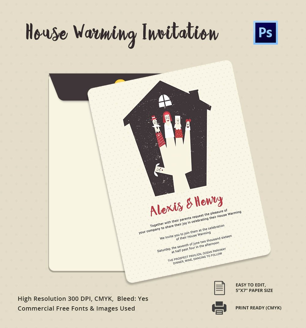Housewarming Invitation Template Free Fresh Housewarming Invitation Template 30 Free Psd Vector