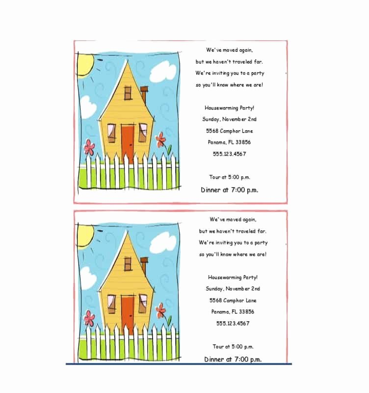 Housewarming Invitation Template Free New 40 Free Printable Housewarming Party Invitation Templates