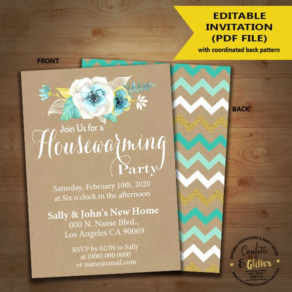 Housewarming Invitation Template Free Unique 35 Housewarming Invitation Templates Psd Vector Eps