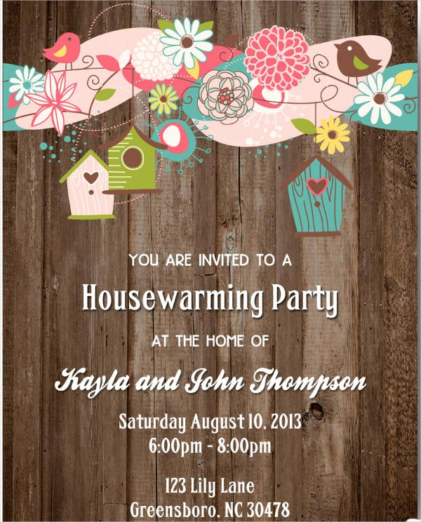Housewarming Invitation Template Free Unique 8 Housewarming Invitation Templates Free Download