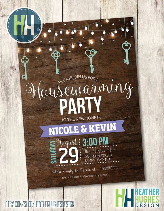 Housewarming Party Invitation Template Awesome Printable Housewarming Invitation Rustic Wood Housewarming