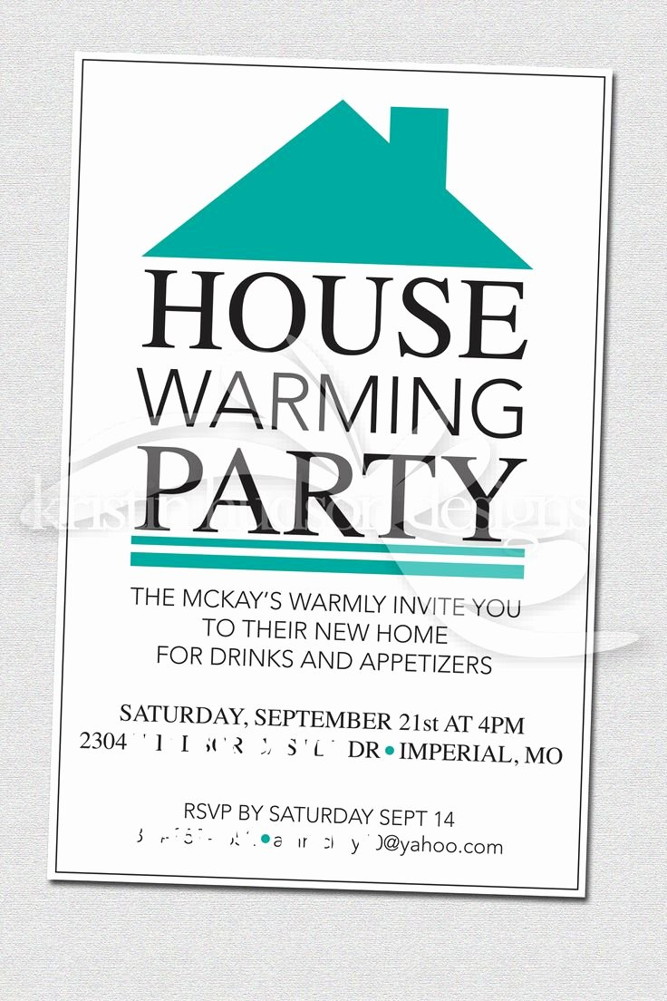 Housewarming Party Invitation Template Fresh House Warming Party Invite