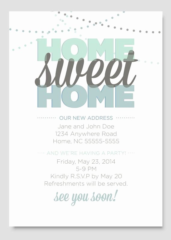 Housewarming Party Invitation Template Inspirational Housewarming Party Invitation by Papercloudstudios On Etsy
