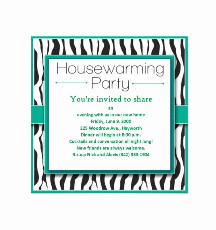 Housewarming Party Invitation Template Unique 40 Free Printable Housewarming Party Invitation Templates