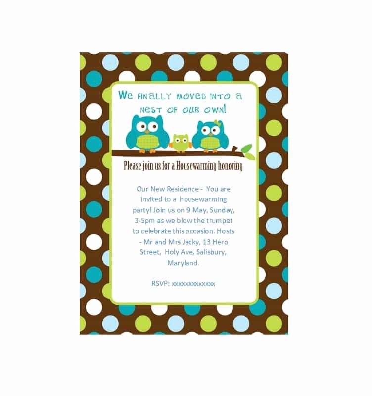 Housewarming Party Invitations Template Fresh 40 Free Printable Housewarming Party Invitation Templates