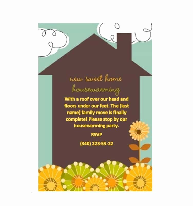 Housewarming Party Invitations Template Lovely 40 Free Printable Housewarming Party Invitation Templates