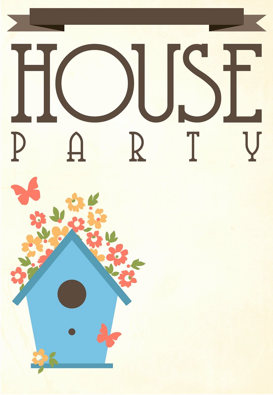 Housewarming Party Invitations Template Lovely Free Printable House Party Invitation