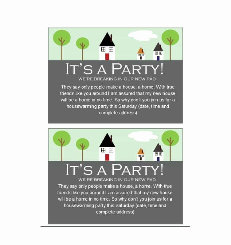 Housewarming Party Invitations Template Unique 40 Free Printable Housewarming Party Invitation Templates