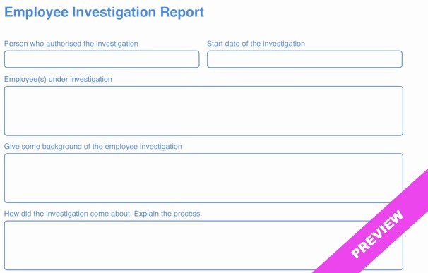 Hr Investigation Report Template Best Of Employee Investigation Report Template