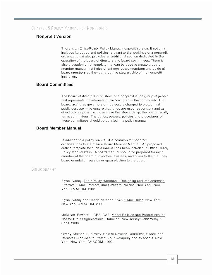 Human Resource Policy Template Best Of Hr Policy Manual Template Policy Handbook Template