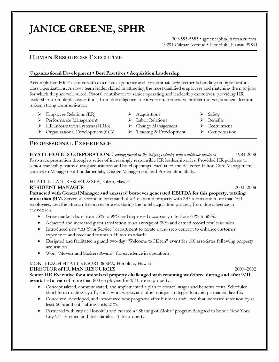 Human Resource Resume Template Awesome Resume Samples Elite Resume Writing