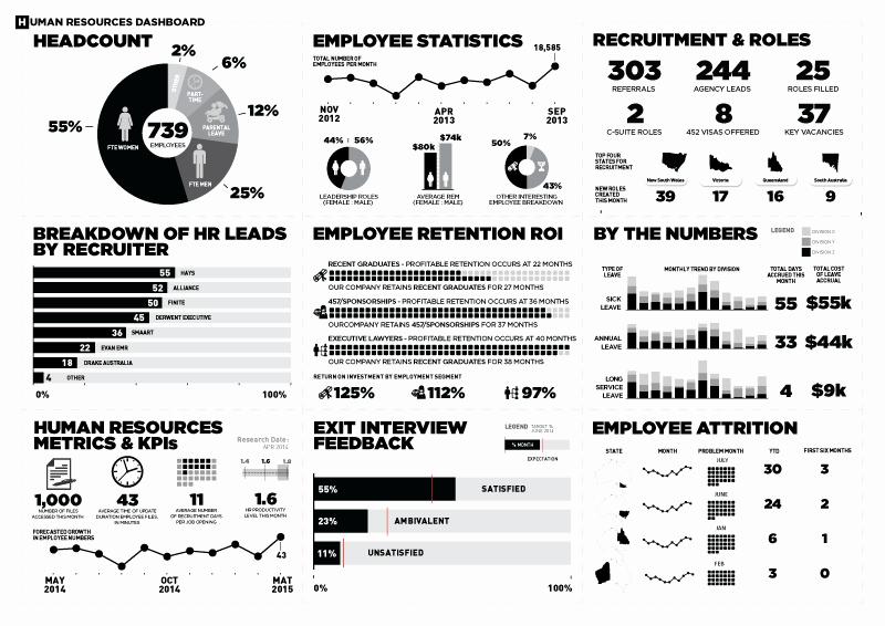 Human Resources Dashboard Template Elegant Human Resources Dashboard Data Visualization