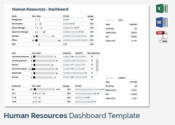 Human Resources Dashboard Template Fresh Hr Dashboard Template 21 Free Word Excel Pdf