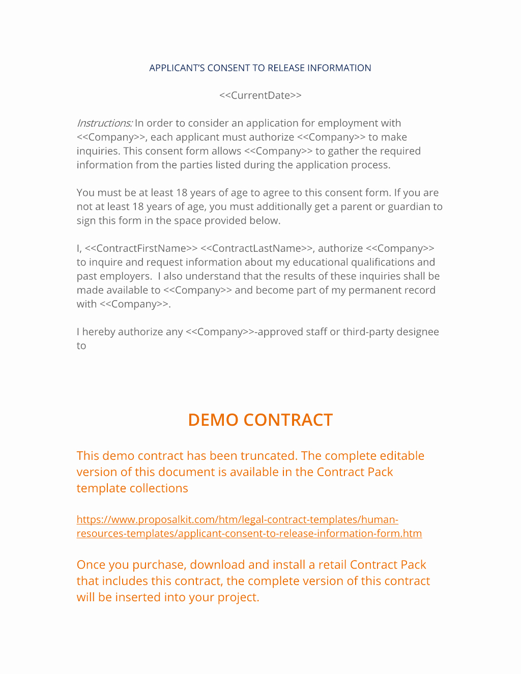 Human Resources Documents Template Elegant Applicant Consent to Release Information 3 Easy Steps