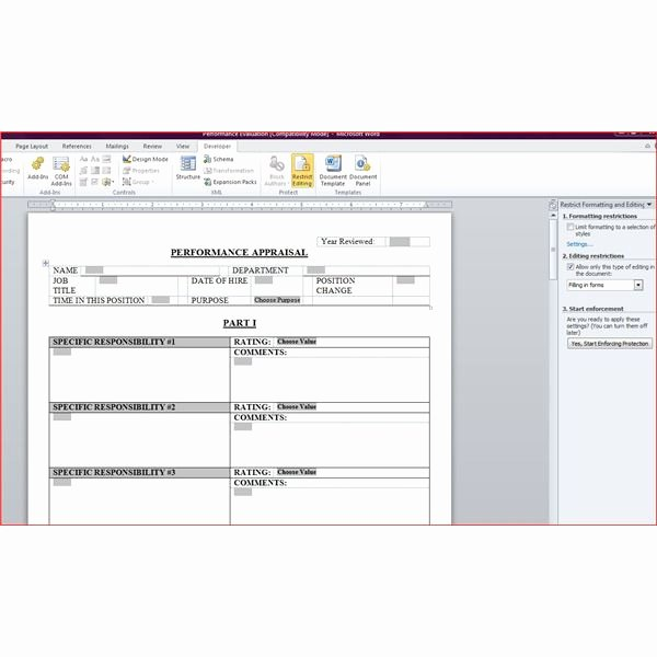 Human Resources Documents Template Inspirational Free Downloadable Performance Appraisal form