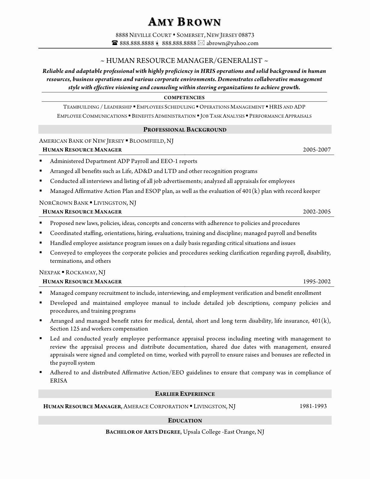 Human Resources Resume Template Beautiful Hr Resume Template Australia Sidemcicek