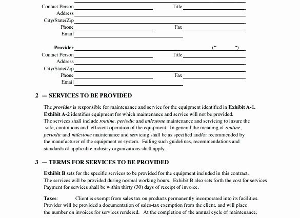 Hvac Maintenance Contract Template Best Of Hvac Contract Template – Crookedroad