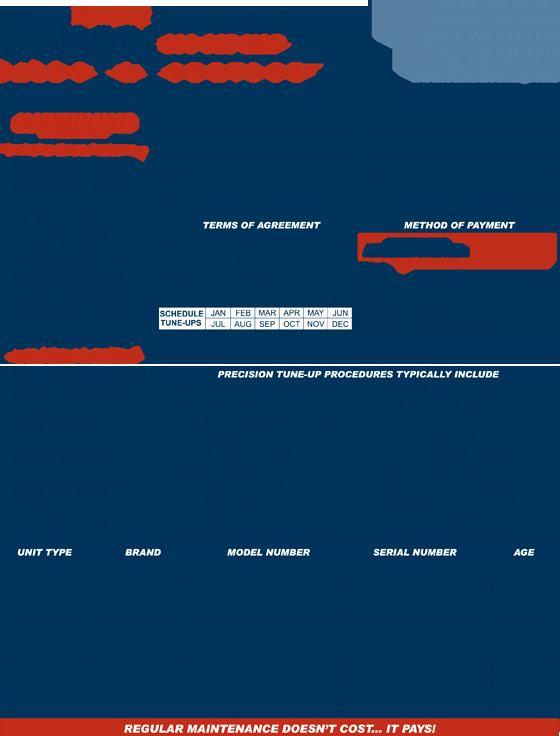 Hvac Maintenance Contract Template Unique Hvac Maintenance Contract forms Free Printable Documents
