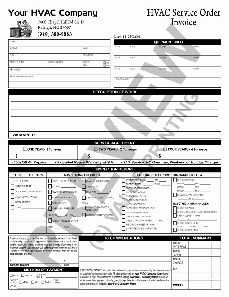 Hvac Service Contract Template Awesome 51 Best Hvac forms Images On Pinterest