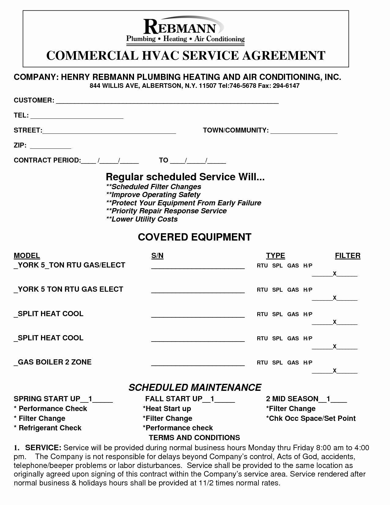 Hvac Service Contract Template Beautiful Installation Contract Template Gseokbinder