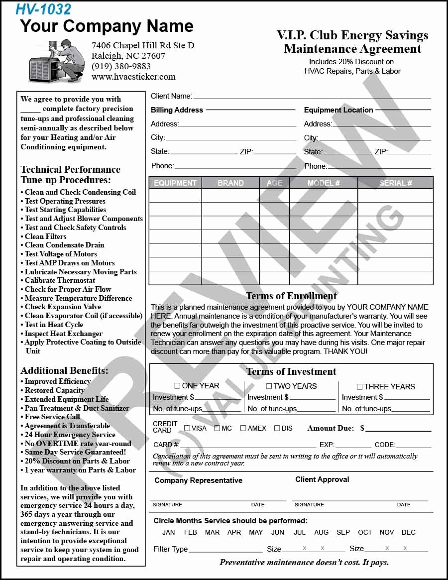 Hvac Service Contract Template Best Of Hvac 1032 Pm Agreement Lg 900×1165