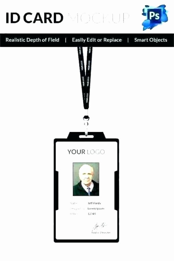 Id Badge Template Photoshop Awesome Clean Modern Employee Id Card Design Stock Vector Royalty