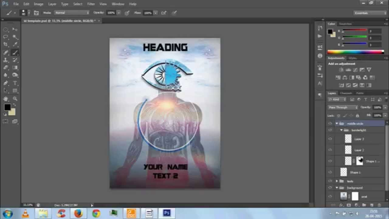 Id Badge Template Photoshop Best Of Id Card Template with Photoshop Psd File