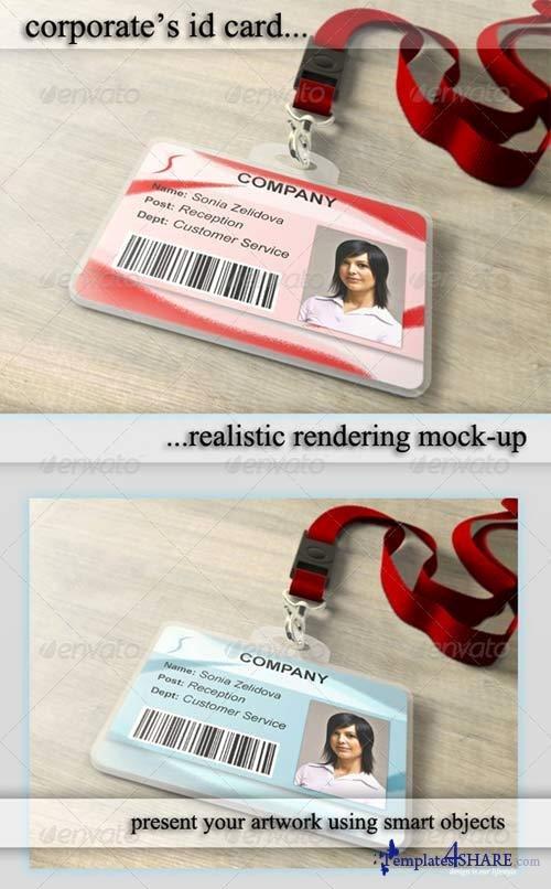 Id Badge Template Photoshop Fresh Graphicriver Id Card Holder Mockup Templates4share