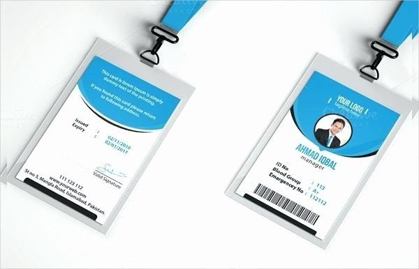 Id Badge Template Photoshop Fresh Id Card Template Luxury Student Design Badge Identity Psd