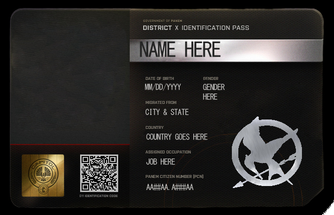 Id Badge Template Photoshop New Blank Id Card Hungergames Roleplay Shop Ver by Nami