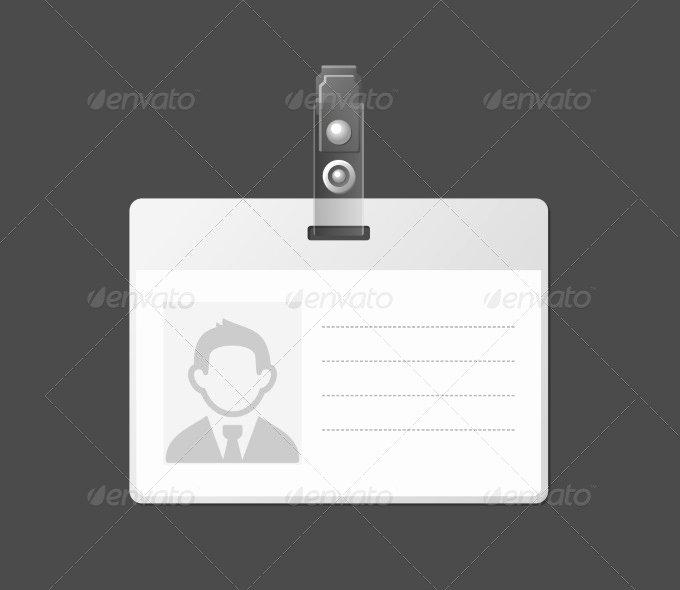 Id Badge Template Word Beautiful 30 Blank Id Card Templates Free Word Psd Eps formats