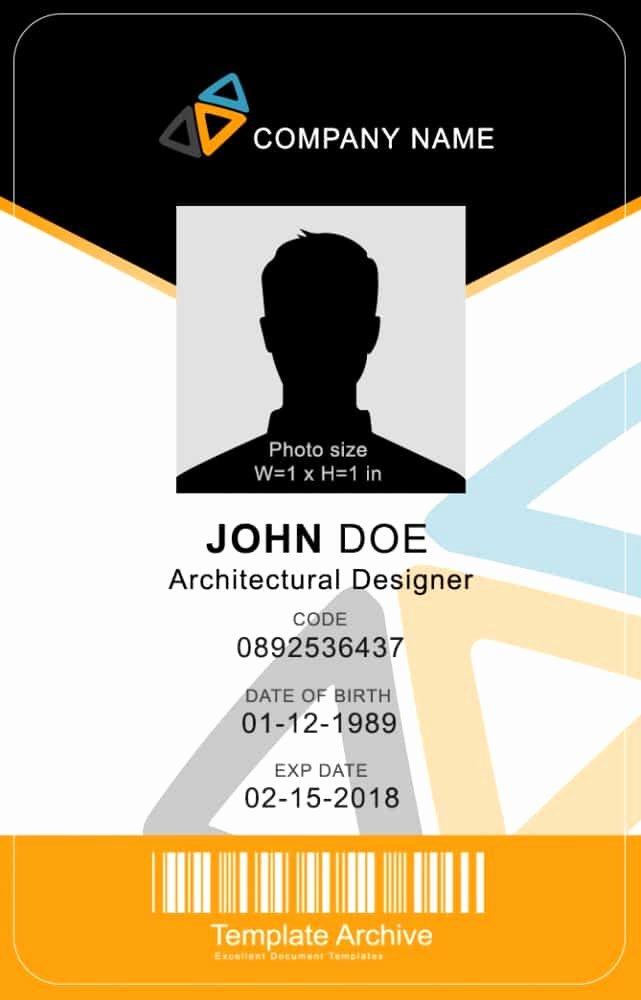 Id Badge Template Word Elegant 16 Id Badge & Id Card Templates Free Template Archive