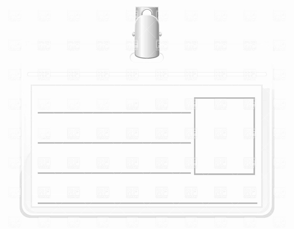 Id Badge Template Word Elegant Blank Id Badge Template to Pin On Pinterest