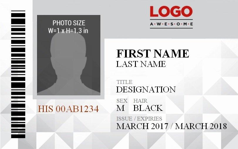 Id Badge Template Word Elegant Vertical Id Badge Template
