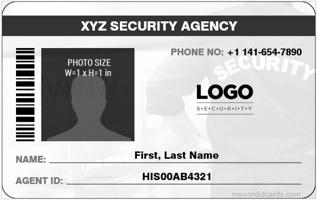 Id Card Size Template Best Of Security Id Card Template Security Id Card2 Beautiful