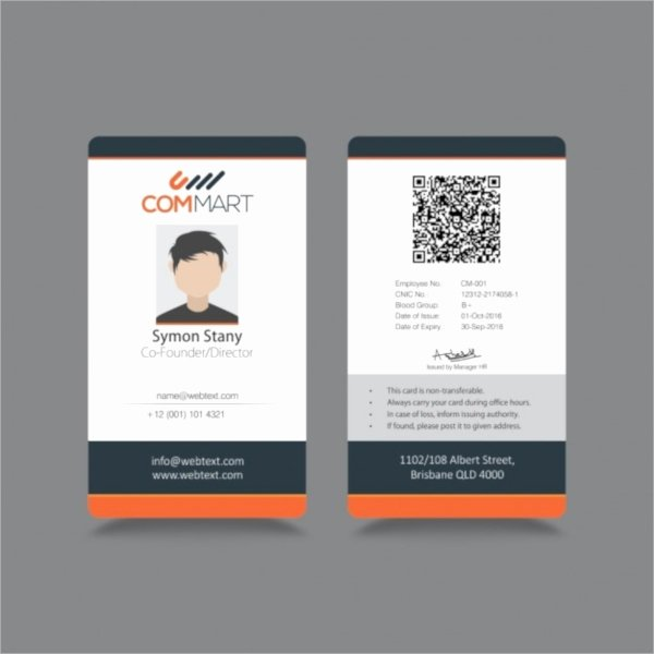 Id Card Size Template Lovely 21 Id Cards