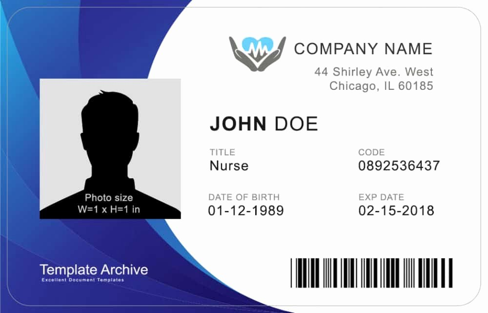 Id Card Size Template Luxury 16 Id Badge & Id Card Templates Free Template Archive