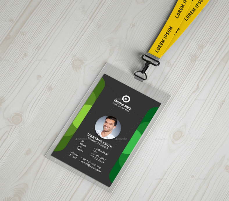 Id Card Template Photoshop Best Of 17 Editable Identification Card Template Designs Psd