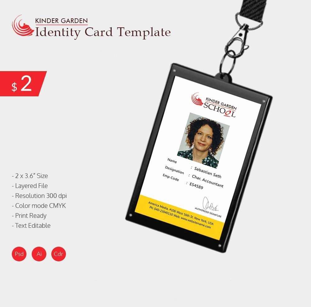 Id Card Template Photoshop Fresh Fresh Employee Badge Template Shop