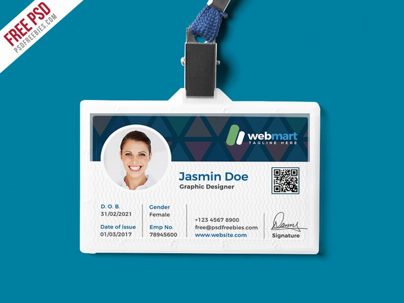 Id Card Template Photoshop Luxury Fice Id Card Design Psd