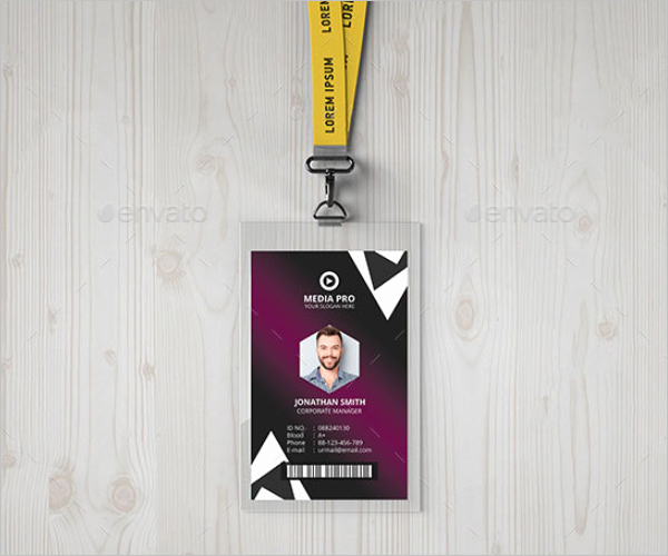 Id Card Template Photoshop New 38 Id Card Templates Free Word Pdf Excel Png Psd Designs