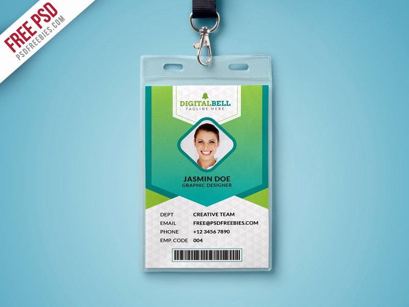 Id Card Template Photoshop Unique Multipurpose Identity Card Template Psd
