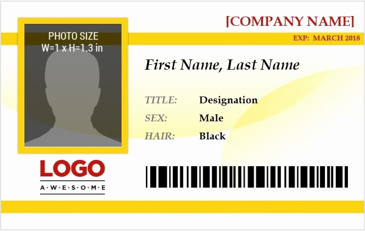 Id Card Template Word Best Of Ms Word Id Badge Templates for All Professionals