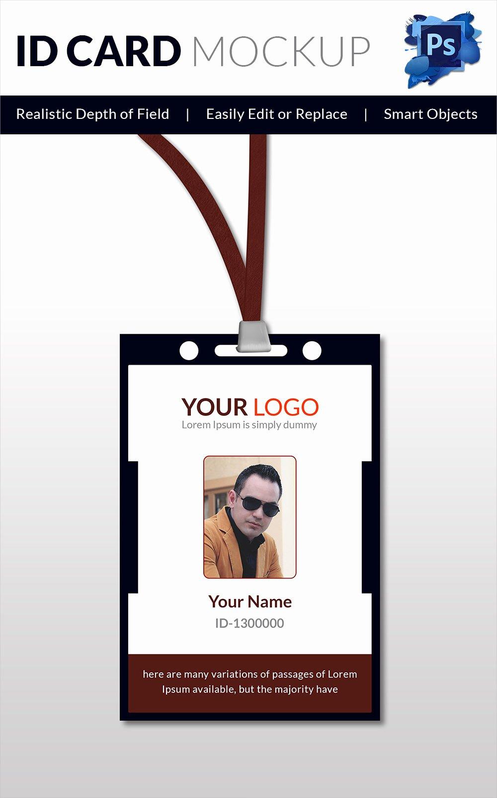 Id Card Template Word Elegant 30 Blank Id Card Templates Free Word Psd Eps formats
