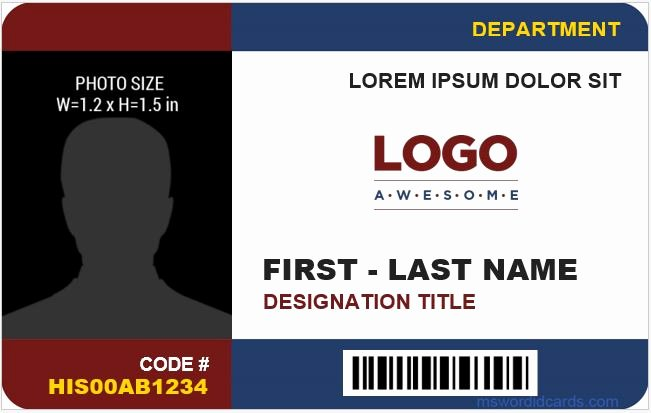 Id Card Template Word Fresh 8 Best Pany Id Card Templates Ms Word