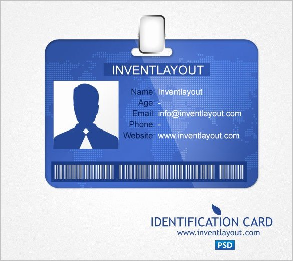 Id Card Template Word Fresh Id Card Templates Word Excel Samples