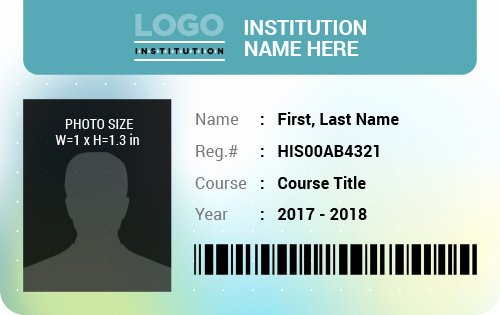 Id Card Template Word Fresh Student Id Card Templates for Ms Word